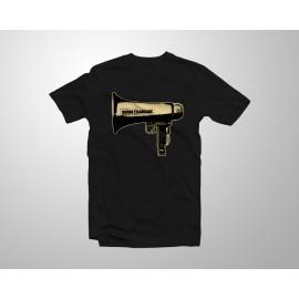 'Megafono' samarreta negra
