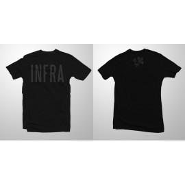 'INFRA' black t-shirt