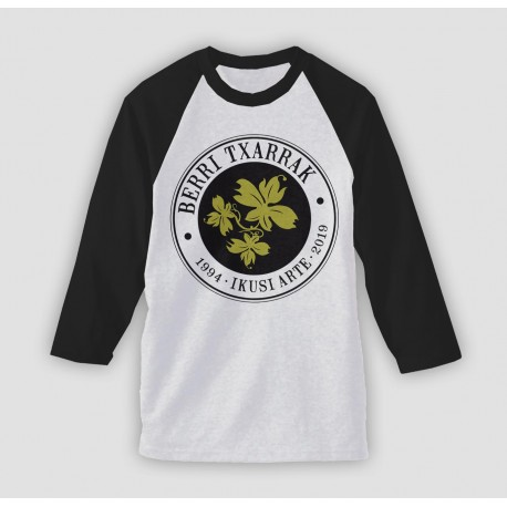 IKUSI ARTE samarreta BASEBALL blanca-negra