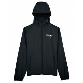MEGAFONO black zipped RAINCOAT (Limited edition)