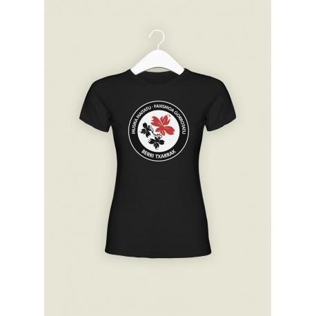 'Antifa' camiseta negra ENTALLADA