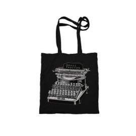 'TYPEWRITER' black totebag