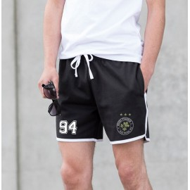 "'1994' RETRO styled Racing Striped Athletic ""MENS"" SHORTS"