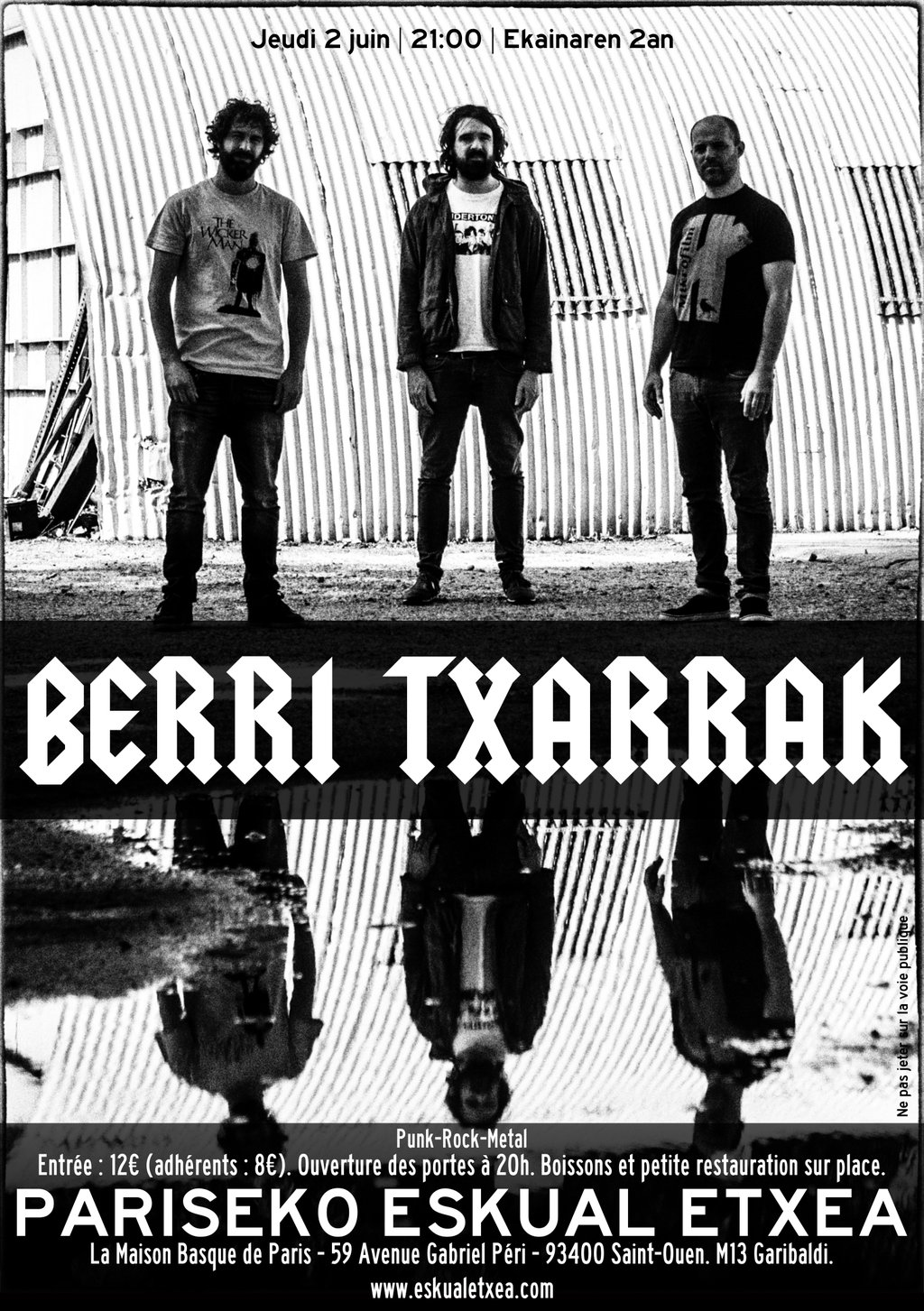 JUN 2nd: BERRI TXARRAK TO PERFORM IN PARIS AGAIN