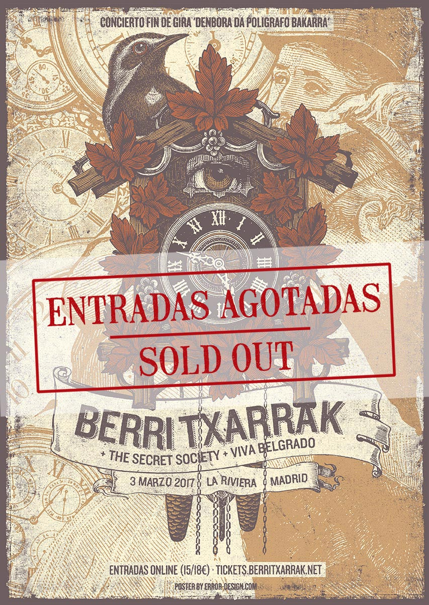 HORARIS LA RIVIERA, MADRID (SOLD OUT)