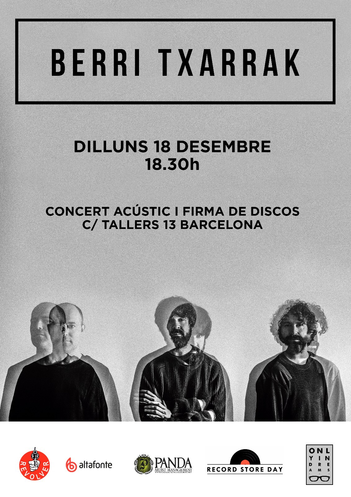 ACOUSTIC SHOWCASE + RECORD SIGNING IN BARCELONA