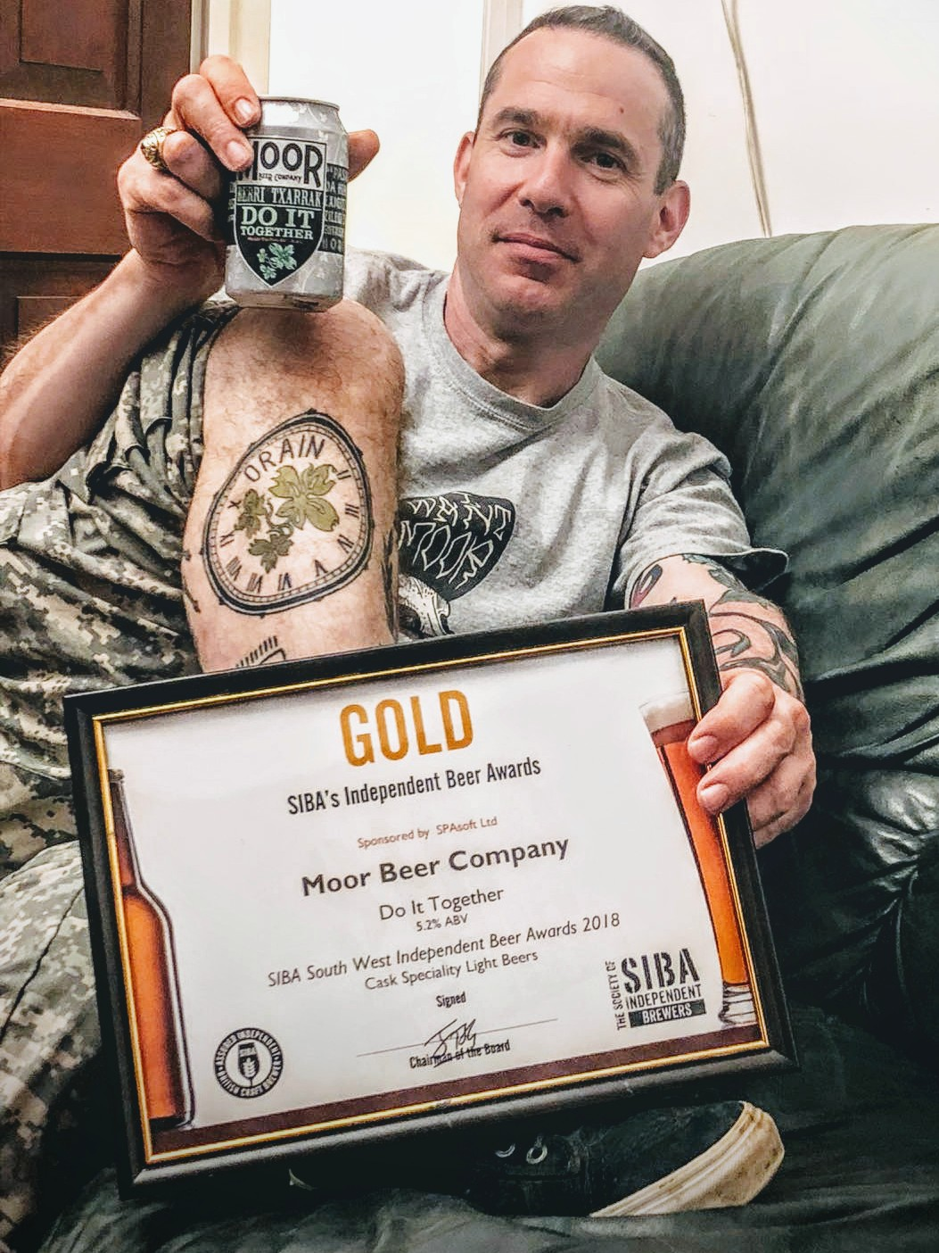 BTX & MOOR's 'DO IT TOGETHER' CRAFT BEER GOES GOLD AT SIBA AWARDS
