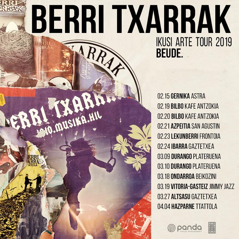 BERRI TXARRAK TO PERFORM AT SMALL VENUES AND SQUATS IN THE BASQUE COUNTRY