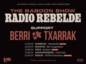Baboon Show German Tour 2019 Sep